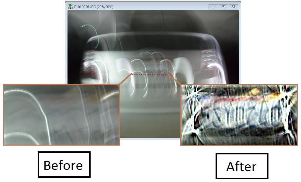 Cognitech Video Investigator Deblur Before and After