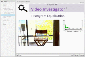 Tutorial for historgram equalization filter